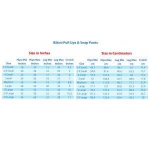 Bikini Size Chart