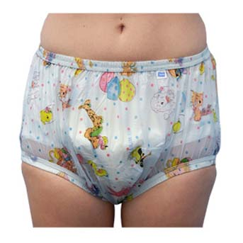 Comfort style Blue Carousel pattern waterproof pant regular waist