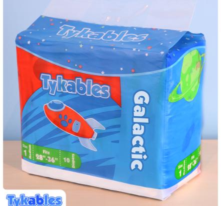Tykable Galactic adult nappies - Bag