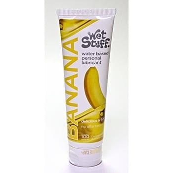 Wetstuff water based lubricant Banana flavour 100g tube