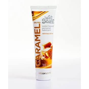 WetStuff water based personal lubricant caramel flavour 100g tube