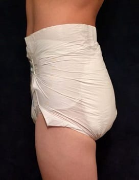Totaldry x Plus adult nappy side