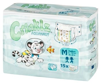 Crinklz Aquanaut Adult Nappy - Medium Pack