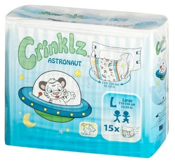 Crinklz Astranaut Adult Nappy Pack Large