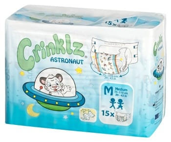 Crinklz Astranaut Adult Nappy Pack Medium