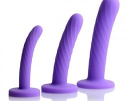 Tri Play 3 Piece Silicone Dildo Set