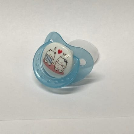 Blue I Love you Adult Pacifier