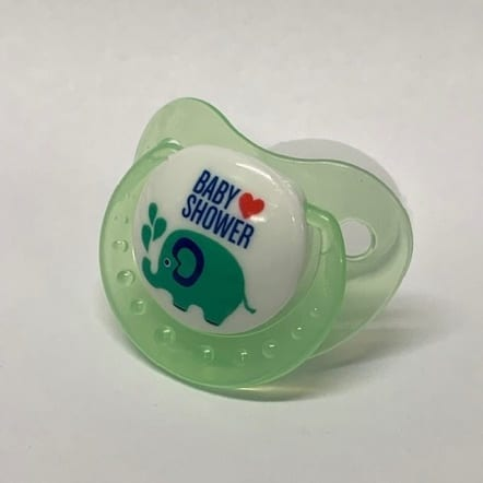 Green Baby Shower Adult Pacifer