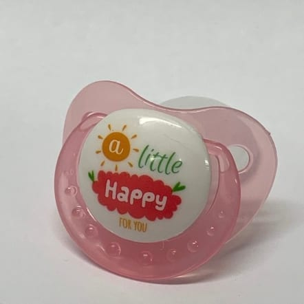 Pink - A little Happy Adult Pacifier