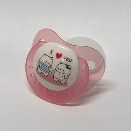 Pink I love you adult Pacifier