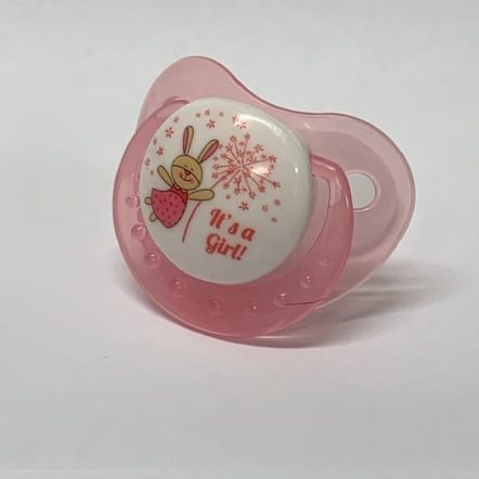 Pink Its a girl adult Pacifier