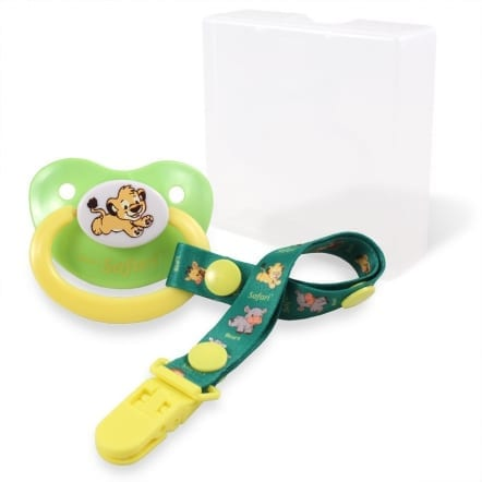 Safari Pacifier Lion and carry case