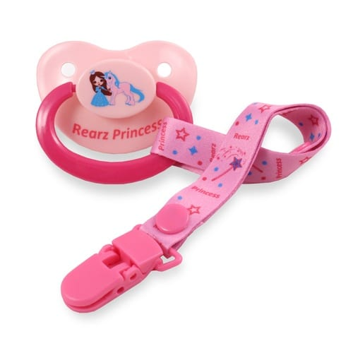 Rearz Princess Pink Pacifier And Clip