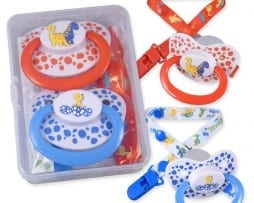 Dinosaur Pacifier and Clip - 2 pack