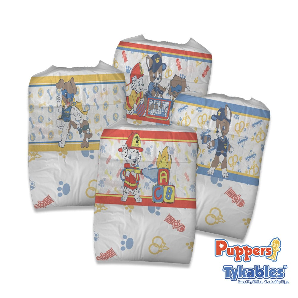 Tykables Puppers Diapers Clustered Tykables Logo