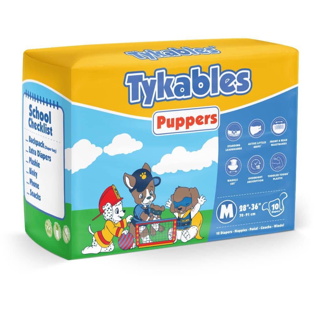 Tykables Puppers Diapers Medium Bag