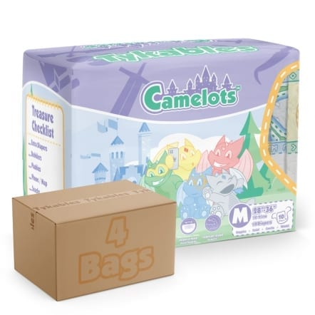Tyakable Camalots Adult Nappy Pack and Carton