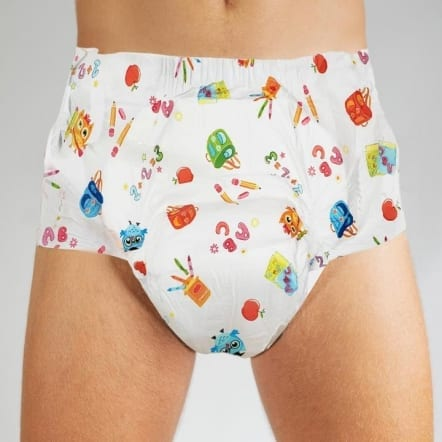 Skooldoodle Adult Nappy - Front