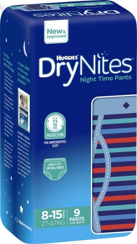 Boys Dry Nights 8-15