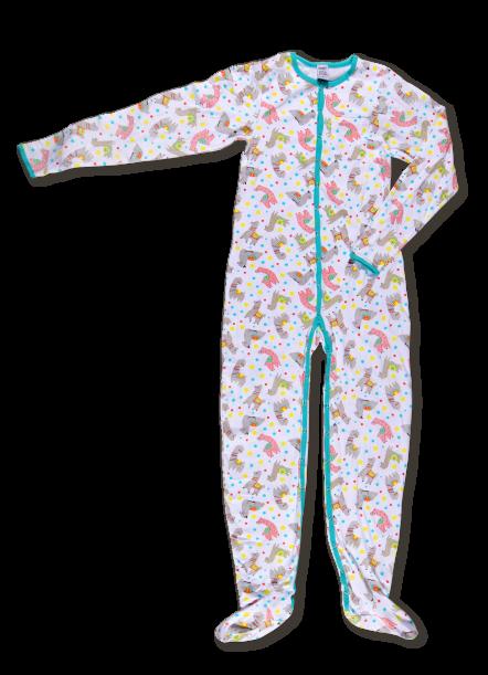 Rearz Alpaca Footed Adult Pajamas